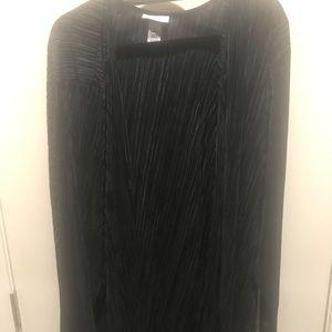 Catherine's 3X Black Shaker Cardigan